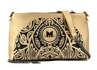 Women Top Fasion New Zipper Messenger Bags 2014 Women Handbag Vintage Shoulder Bag Messenge Golden Small Clutch Leather Packet