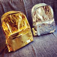 Kakasa ulzzang metal backpack school bag
