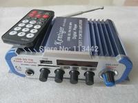5PCS Amplificador Automotivo Auto Falantes FM Audio +MIC + MP3 Speaker Mini HiFi Stereo Amplifier for iPod / Motorcycle / Car