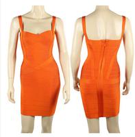 Hot Women New 2014 Slim Package Hip Strap Bandage Dress Free Shipping