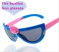 2014 High Quality Anti-uv Children Fashion Cartoon Style Folding Baby Beetle Kids Sunglasses Child Goggles