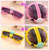 Wholesale High Quality Anti-uv Children Fashion Cartoon Style Folding Baby Beetle Kids Sunglasses Child Goggles