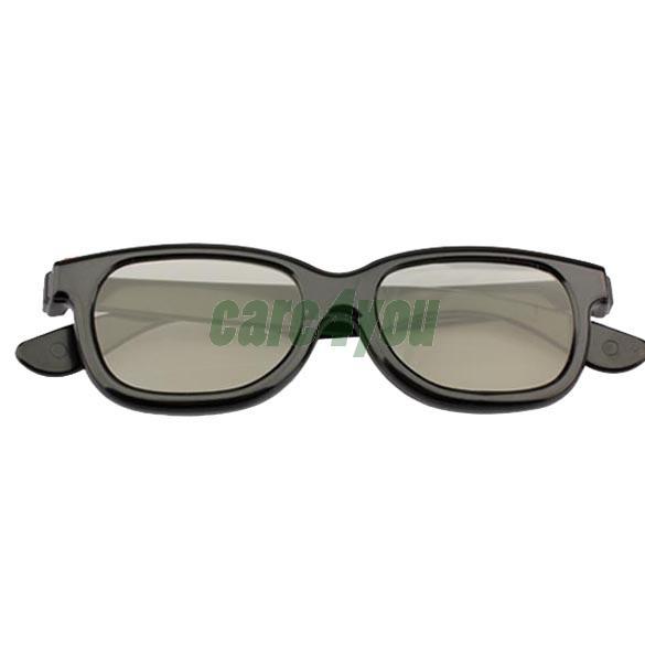 Polarized 3D Glasses Black Movie DVD LCD Video Game Theatre Circular E#CH(China (Mainland))