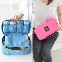 HOT SELL  Women Girl Travel Cosmetic Makeup Toiletry Wash Storage Case Underwear Bra Bag COS-003