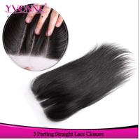 3 Part Closure Straight Brazilian Virgin Hair Closure,100% Human Hair Lace Closure 4x4,Aliexpress YVONNE Hair Products