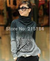 High Quality Blusas de malha de Inverno Women cashmere Sweater And Pullover Gradient Color Plus size women clothing xxxl