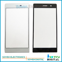 Original new Outer LCD Screen Lens Top Glass for Huawei Ascend P7,White or black,Free Shipping