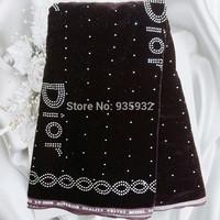 5yds/lot! fashion Velvet Fabric velour cloth Satin Textile Jacquard. high quality velvet fabric with bead! coffee!  VL060503