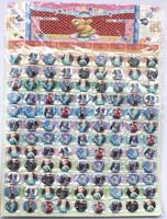 Wholesale -1 sheets 108 pcs Frozen Badge Button Pin 2.5CM party favor  Free Shipping
