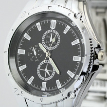 New Free Shipping Fashion Jewelry Black Surface Quartz Wrist Watches For Men