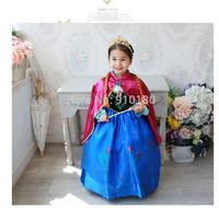 2014 new Frozen Anna dress for children girl cosplay frozen princess dress anna's dresses Movie Costume cosplay