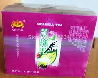 jasmine flolwe herbal tea new 2014 supplyment luwak perfume herb blooming flower tea medicinal wholesale retail gift can tea
