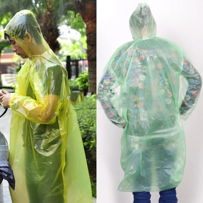 Practical Disposable Emergency Raincoat/ Camping Hooded Rainwear2 pcs/Travel Hiking Raincoat(China (Mainland))