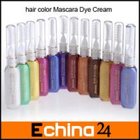 New Arrival Non-Toxic Hair Color Mascara Dye Cream 12pcs Hair Color Dye Chalk Free Shipping