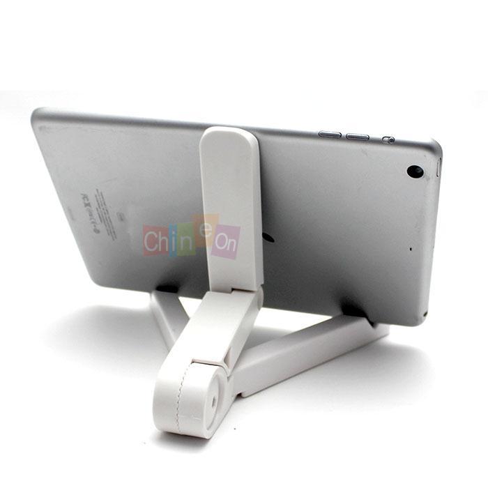 Hot selling White Portable Foldup Stand Holder Bracket for i Pad 3 2 1 Mini Kindle for Samsung Table(China (Mainland))