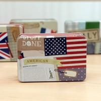 The national flag receive box  tin boxes  storage box 12*8*4.5cm Free shipping
