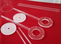 clear quartz glass coil tube/test tube/quartz tube for uv lamp/quartz heating tube/many size for choose/customized order