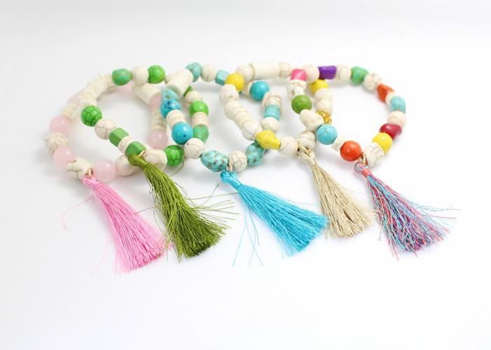 2014 neuen naturstein perlen Armbänder& armreifen wickeln türkis armreifen armbänder frauen schmuck bekleidungszubehör