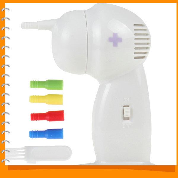 Sale!! White Painless Electric Vacuum Ear Cleaner Electronic Wax Vac Ear Cleaner Ear Care Tool with Silicone Nozzles & Brush(China (Mainland))
