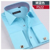 New Arrival~ Free Shipping Newly Style England Men's Business Suit Shirt Cufflinks French Shirt 6 Colors 1pc/lot