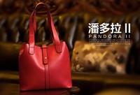 2014 genuine leather  bucket bag fashion vintage women's handbag bag shoulder picture