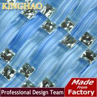 [KINGHAO] Blue mosaic sliver color kitchen backsplash KAR01 glass mosaic tile kitchen glass tiles pattern