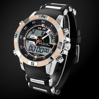 Black Band Sports Watch for Men's Wristwatch Running WEIDE LED Watches Analog-Digital Casual watches New 2014 Promotions