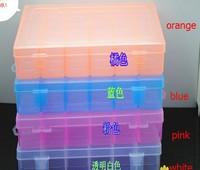 20pcs/lots 36 grids detachable Loom kit plastic box  Storage box  jewel case fishing box Loom rubber storage box