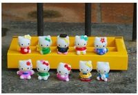 10pcs/set cute KT kitty cat classic toys japanese anime vinyl doll marvel action figure toy doll Birthday Gift for kids hot toys