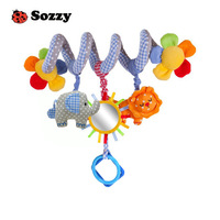 2014 sozzy Elc Multifunctional Car bed Hanging Ded Bell Baby Educational Toys Rattles,Children's gift, Free Shipping