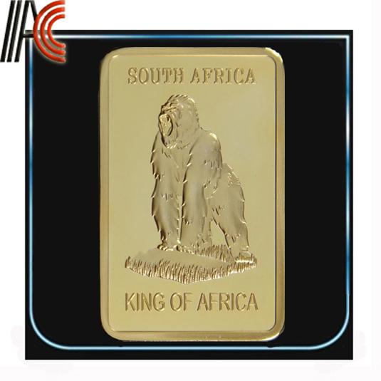 (Marcha0012)New Items,10pcs/Lot, Free shipping wholesale 999 Gold plated Gorilla Gold Bar(China (Mainland))