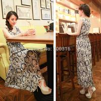 Korean Design temperament ladies cotton dress silk dress Free Ship Women Clothing