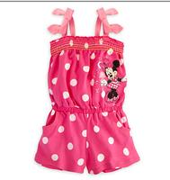 Children's clothing MINNIE polka dot spaghetti strap pants female child summer spaghetti strap jumpsuit pants 5set/lot