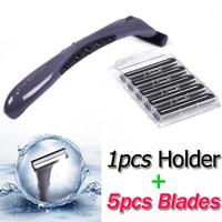 Brand Brand Stainless Steel 1 Razor Holder and 8 Shaving Safety Razor Blades Cartridges Set for Men