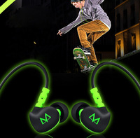 2014 New arrival Maya sports earphones, ear hanging heavy bass phones with a mic headset, MP3, computer music Earphones