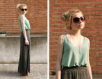 2014 Fashion Sey Women Plus Size Loose Wavy Edge Ladies Top Blouses Sleeveless Breathable  Chiffon Casual Shirts
