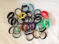 HOT Sale custom cheap promotion logo text words print gift wristband,silicone bracelet 500pcs/lot