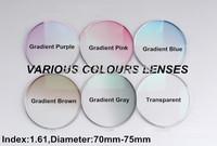 myopia anti-uv 1.61 colouful lenses quality guaranteed dyeing gradient colour lens,free filling prescription if choice framef