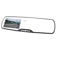 "1080FHD 4.3"" LTPS Motion Detection Car Rearview Mirror DVR Camera Video Recorder Night Vision Wholesale Free Shipping"