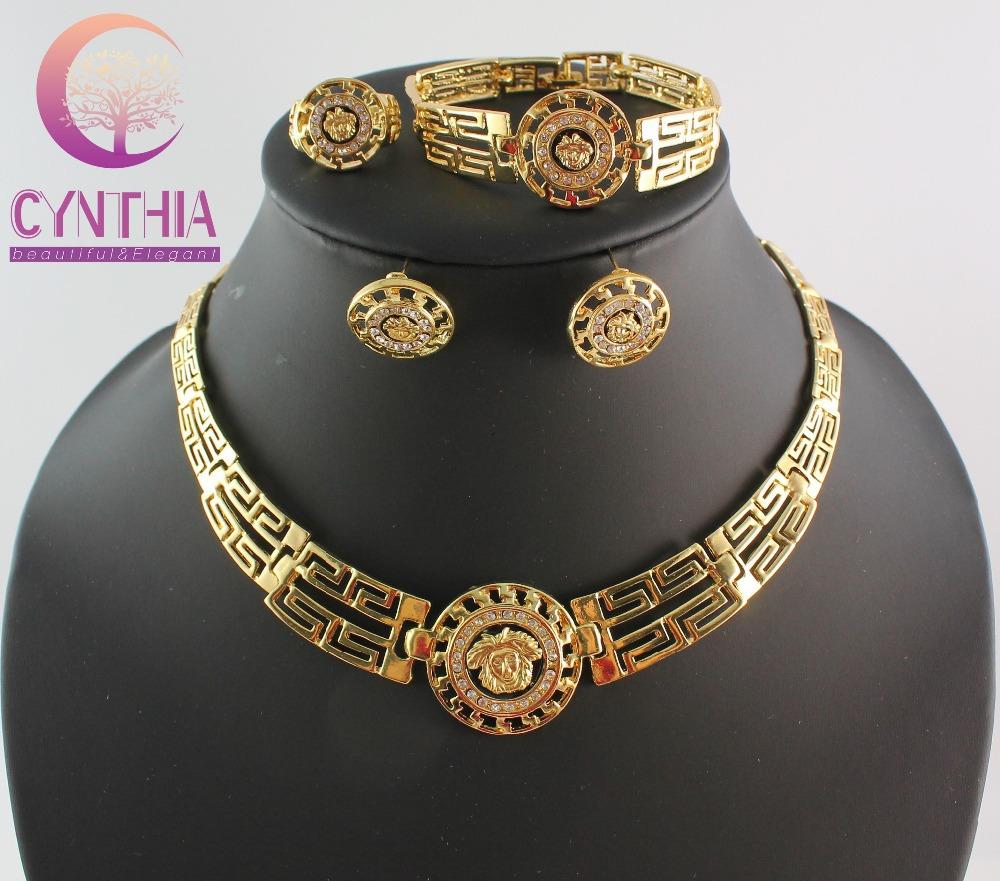 Livraison gratuite 2014 européen de la mode jewerly ensembles pour les femmes collier en or sertie de fête de mariage bijoux coffrets cadeaux wb-21092