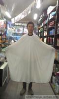 Quality hair cloth white big thin double buttons nylon taffeta fabric wrinkle Free Shipping