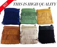 2014 Top Hot Sale Women Handbag free Shipping Rustic Scrub Genuine Leather Mini Bohemia One Shoulder Cross-body Women Femal Bag