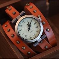 100 pcs/lot on Sale Vintage fashion woman Watches Roman long strap wristwatch popular leather watch casual dress punk wristwatch