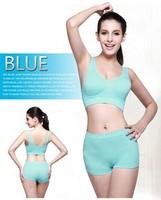 Pisha brand high quality bra sets very comfortable seamless Y shape bra and short for women sleep or for sport underwear