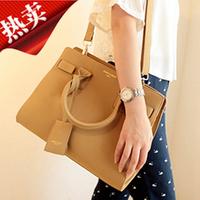 2014 elegant vintage bag brief ol nubuck leather one shoulder gold women's handbag