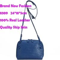 handmade 100% genuine leather women messenger bags free shipping wholesale price big stock women shoulder bags