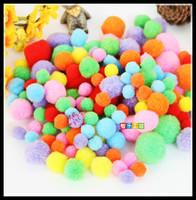 10mm-50mm Color Multicolor Pompoms pom-pom Kindergarden DIY Art Craft Materials for Creative Kids Early Educational