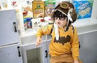 Free shipping ! 2014 New baby boy girl flower Batman T Shirt Kids Children Tops Tees Long sleeve Children clothes