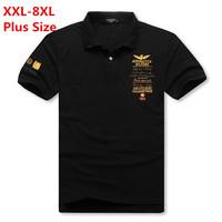 Men plus size!!! Brand polo shirt short gasp cotton undershirt casual polo men clothin(XXL XXXL 4XL 5XL 6XL 7XL 8XL)