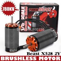 TORO Beast X528-2Y 780KV X528 Brushless Motor for 1/5 Scale Car  SKYRC 4 Pole Brushless Motors,Beast X528 Brushless Motor